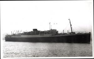 Foto Ak Steamer Georgic, Dampfschiff, Cunard Line