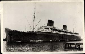 Ak CGT Dampfer Liberte