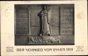 Ak Essen im Ruhrgebiet, Der Schmied von Essen, Kriegerdenkmal
