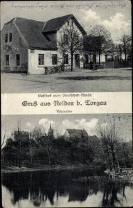 Ak Neiden Elsnig Sachsen, Gasthof zum Deutschen Hause, Weinske