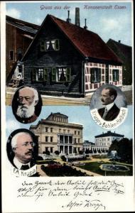 Ak Essen im Ruhrgebiet, Porträt Alfred Krupp, Friedrich Alfred Krupp, Krupp von Bohlen-Halbach