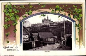 Passepartout Ak Wernigerode am Harz, Schloss
