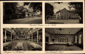Ak Crossen Zwickau in Sachsen, Gasthof Crossen a. d. Mulde, Konzertsaal, Gesellschafter Saal