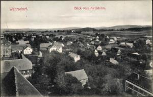 Ak Wehrsdorf Sohland an der Spree in Sachsen, Panorama vom Kirchturm