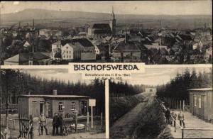 Ak Bischofswerda in Sachsen, Schießstand des II. Ers.-Batl. Inf.-Rgt. Nr. 103