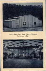 Ak Falkenau Flöha in Sachsen, Prunk-Tanz-Zelt