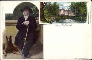 Ak Friedrichsruh Aumühle Schleswig Holstein, Schloss, Bismarck, Hund