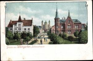 Ak Weingarten in Württemberg, Schlossstraße