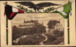Passepartout Ak Coburg in Oberfranken, Veste, Hotel