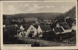Ak Tautenburg im Saale Holzland Kreis, Gesamtansicht