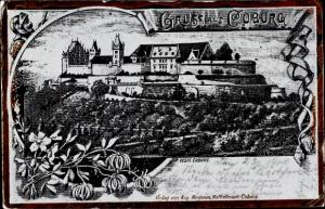 Litho Coburg in Oberfranken, Veste Coburg
