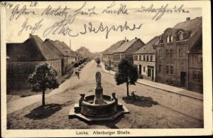 Ak Lucka im Kreis Altenburger Land, Altenburger Straße, Brunnen