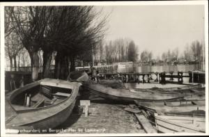 Ak Rotterdam Südholland Niederlande, BErgsche Plas bij Lommerrijk