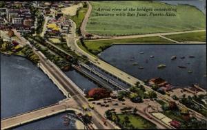 Ak San Juan Puerto Rico, Aerial view of the bridges connecting Santurce with San Juan