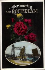 Ak Rotterdam Südholland Niederlande, Hafen, Rosen