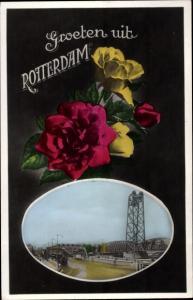 Ak Rotterdam Südholland Niederlande, Ortspartie, Rosen
