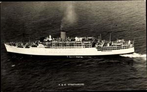Ak Steamer Strathmore, Dampfschiff, P&O