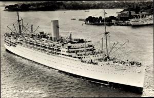 Ak Steamer Stratheden, Dampfschiff, P&O