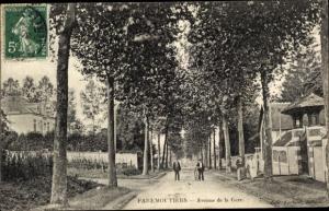 Ak Faremoutiers Seine et Marne, Avenue de la Gare