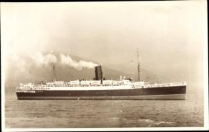 Foto Ak Steamer Cameronia, Dampfschiff, Cunard Line