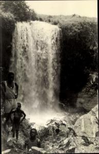 Foto Ak DR Kongo Zaire, Wasserfall