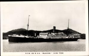 Ak Steamer SS Ruahine, Dampfschiff, New Zealand Line