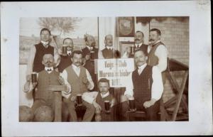 Foto Ak Kegelklub Murmelschieber 1907, Männer