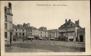 Ak Thouars Deux Sèvres, Place Saint Medard