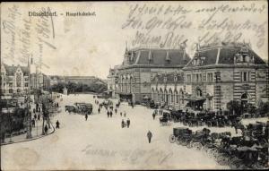 Ak Düsseldorf am Rhein, Hauptbahnhof