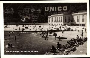 Foto Ak Rio de Janeiro Brasilien, Balneario da Urca, Unico