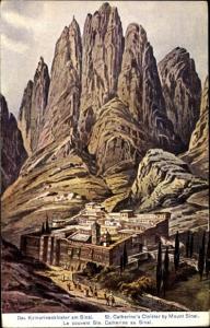 Künstler Ak Bethelem Palästina, Das Katharinenkloster am Sinai
