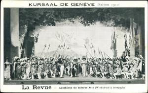 Ak Genève Genf Stadt, La Revue, Apotheose du dernier Acte, Kursaal, Saison 1910