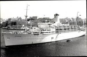 Ak Steamer Chusan, Dampfschiff, P&O
