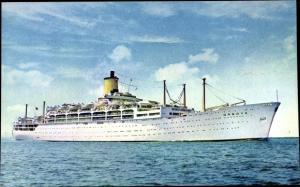 Ak Steamer Orsova, Dampfschiff, P&O
