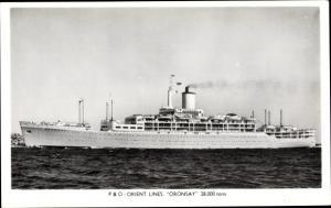 Ak Steamer Oronsay, Dampfschiff, P&O