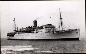 Ak Steamer Strathnaver, Dampfschiff, P&O