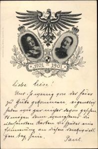 Ak Friedrich I. von Preußen, Kaiser Wilhelm II., 200jh Bestehen Königreich Preußen 1901