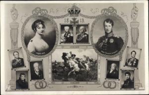 Ak Königin Luise von Mecklenburg Strelitz, Luise von Preußen, König Friedrich Wilhelm III