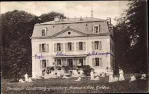Ak Genève Genf Stadt, Pensionat Sonderburg Glücksburg, Avenue d'Aire