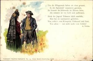 Gedicht Künstler Ak Starcke, R., Ettersberg bei Weimar, Gedicht