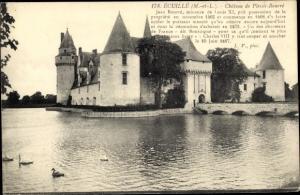 Ak Écuillé Maine et Loire, Chateau du Plessis Bourre