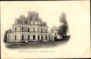 Ak Écuillé Maine et Loire, Chateau de la Roche Chauvon