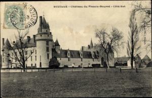 Ak Écuillé Maine et Loire, Chateau du Plessis Bourre, cote est