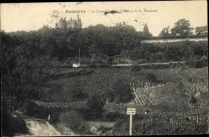 Ak Sancerre Cher, Le Casse Cou, Chateau et la Terrasse