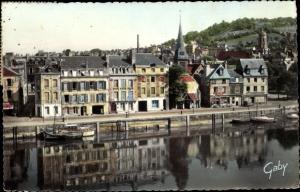 Ak Honfleur Calvados, Quai Saint Etienne