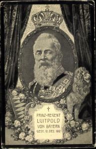 Passepartout Ak Prinzregent Luitpold von Bayern, Portrait