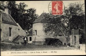 Ak Epone Yvelines, Coin de Ferme, le Mesnil