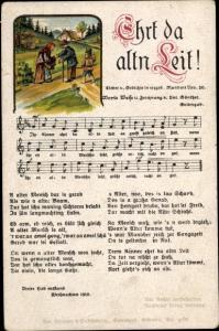 Lied Ak Günther, Anton, Erzgebirgische Mundart 50, Ehrt da altn Leit