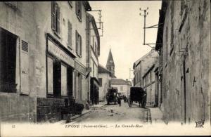 Ak Epone Yvelines, La Grande Rue