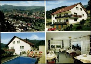 Ak Loffenau Baden Württemberg, Alfred Möhrmann Pension, Pool, Gesamtansicht